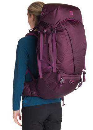 MEC Omega 80 Women's Hiking Backpack Cassis Purple-infinitote.com