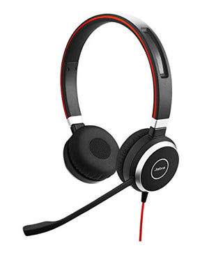 Jabra Evolve 40 HSC017 On-Ear Headband Headset Headphones - Black-infinitote.com