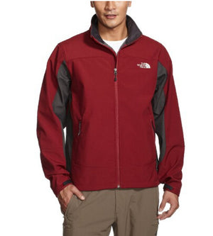 The North Face Men's Chromium Thermal Softshell Jacket in Red and Gray - Size Small