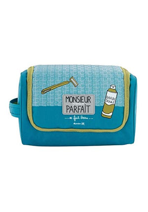 Derriere La Porte Men's Toiletry Travel Bag Monsieur Presque Parfait-infinitote.com