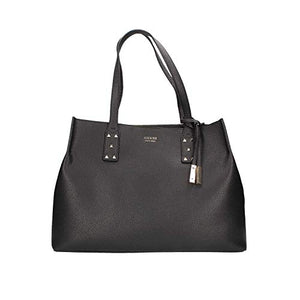 Status Fortune Faux Leather Satchel Black Purse Bag-infinitote.com