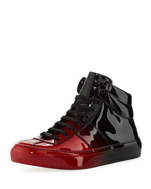 Jimmy Choo Men's Belgravia Dégradé Patent High-Top Sneakers Sz 10-infinitote.com
