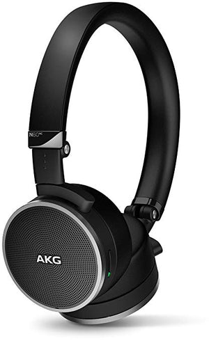 AKG N60NC Noise-Cancelling N-Series On-Ear Headphones - Black-infinitote.com