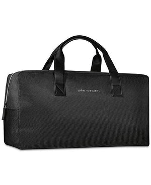 John Varvatos Travel Weekender Gym Duffle Bag Black Grey-infinitote.com