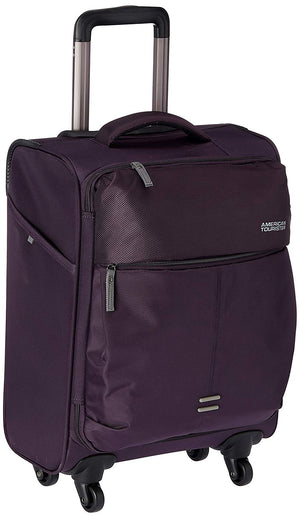 American Tourister Smart Nylon Purple Carry-On Spinner Luggage 21""