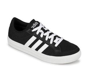 adidas Men's VS Set Shoes AW 3890 Sneakers Black White Sz 9.5-infinitote.com