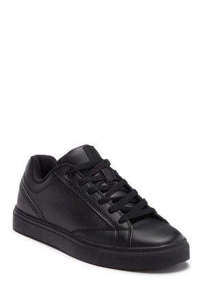 FILA Women's Amalfi Perforated Faux Leather Sneakers Black Sz 10-infinitote.com