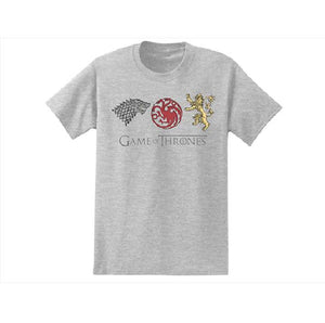 Isaac Morris Official Game of Thrones Sigils Tee Gray 100% Cotton-infinitote.com