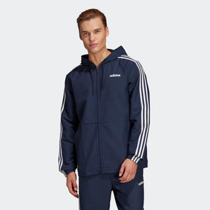 adidas Essentials 3-Stripes Woven Windbreaker Jacket Navy Blue DU0461 Sz L-infinitote.com