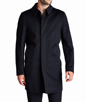 Harry Rosen Loro Piana Men's Storm System Coat Navy Blue Sz 42-infinitote.com