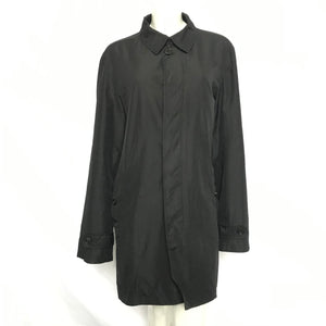 Burberry Men's Nylon Raincoat Jacket Black Sz L-infinitote.com