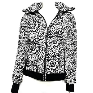 Fusalp Women's Down Puffer Jacket Coat Black White Dots Sz FR 36 / S-infinitote.com