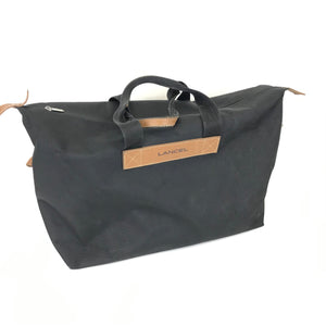 Lancel Black Canvas Tote Handbag Large-infinitote.com