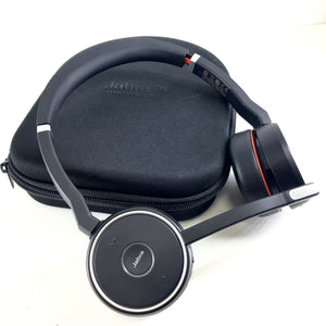 Jabra Evolve 75 HSC040W On-Ear Bluetooth Headband Headset Headphones - Black-infinitote.com