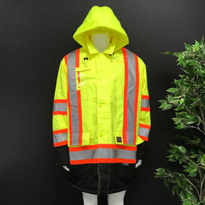 Work King Safety S17621 Insulated Hi-Vis Parka Sz 2XL-infinitote.com