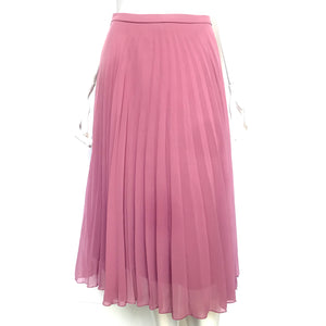 Asos Pleated Midi Skirt Pink Purple Sz 2-infinitote.com