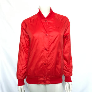 Adidas Originals Women's S19836 Basic Poppy Red College Jacket - Size Small-infinitote.com
