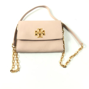 Tory Burch Britten Chain Wallet Crossbody Bag Leather Light Pink-infinitote.com