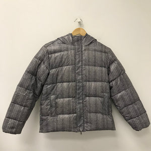 Benetton Kids' Down Filled Winter Puffer Coat Chevron Stripe 10-11Y-infinitote.com