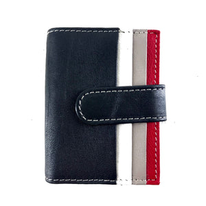 Champs Leather RFID Block Cardholder Wallet Red Grey Black-infinitote.com