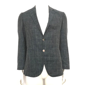 Hugo Boss Janson4 Trim Fit Wool Sport Coat Blazer Blue Sz 36R-infinitote.com