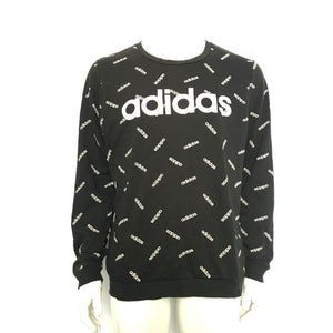adidas Men's Graphic Sweatshirt Printed Black White Sz L-infinitote.com