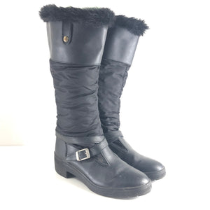 PAJAR Women's Tall Faux Fur Lined Winter Boots Black Sz 10-infinitote.com
