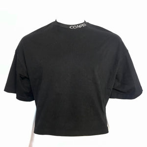 MAO Mart Homme Men's Designer Crop Top Shirt Black Sz M-infinitote.com