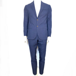 Vassi Made in Canada 2 Pc Wool Suit Jacket & Pants Navy Blue 38R-infinitote.com