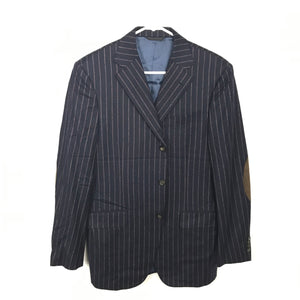 Eredi Pisano Navy Blue Pinstripe Suit Jacket & Pants Men's Sz 48-infinitote.com
