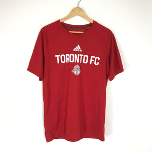 adidas Men's Toronto FC MLS T-Shirt Short Sleeve Shirt Red Sz M-infinitote.com