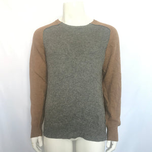Marc Jacobs Men's Camel Hair & Wool Sweater Grey Beige Sz L-infinitote.com