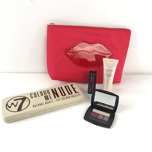 Cosmetic Bundle Lancome Shiseido W7 Lipstick Eyeshadow Lip Makeup Case