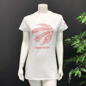 "adidas Toronto Raptors ""Powered by Female Fans"" T Shirt Sz L-infinitote.com"