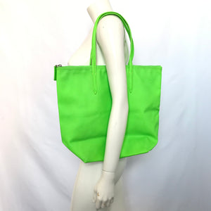 Lacoste Vertical Tote Purse Shopper Bag Neon Green-infinitote.com