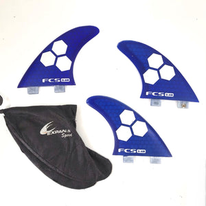 3x FCS G-AM Side Fins Surfboard Surfing Fins - Gray-infinitote.com