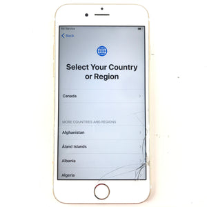 Apple iPhone 6S Gold Smartphone IC LOCK FMI ON For Parts-infinitote.com