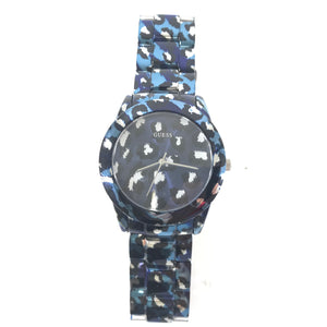 Guess ROAR W0425L1 Stainless Steel Women's Watch - Blue Leopard-infinitote.com