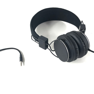 Urbanears Plattan II Headphones - Black with Controls and Mic on Cable-infinitote.com