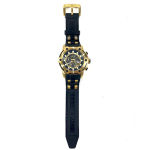 Bolt Chronograph Dial Men's Quartz Movement Watch 51.5MM - Black Gold-infinitote.com
