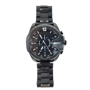 Diesel Men's DZ4283 Mega Chief Analog Display Quartz Black Watch-infinitote.com
