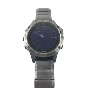 Garmin Fenix 5 Sapphire Crystal Stainless Steel Black GPS Multi Sports Watch READ-infinitote.com