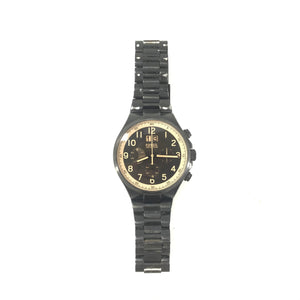 Fossil Men's CH2910 Qualifier Chronograph Black Stainless Steel Bracelet Watch-infinitote.com