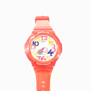 Casio Baby G Red Jelly Marine Series Neon Red Women's Watch BGA-131-4B-infinitote.com