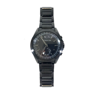 Armani Exchange Men's Hybrid Smartwatch Black-Tone Stainless Steel 44 mm-infinitote.com