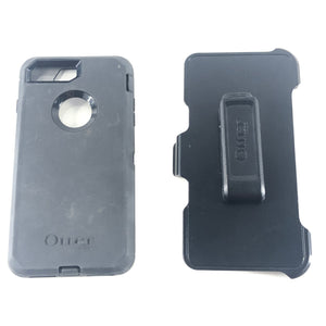 OtterBox iPhone 7+ Plus / 8+ Plus Defender Series Smartphone 4 Part Case Black With Clip-infinitote.com