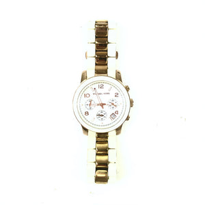 Michael Kors Runway Chronograph Two-tone Ladies Watch MK5464-infinitote.com