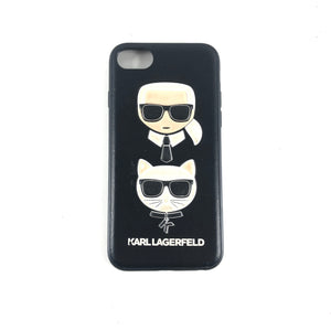Karl Lagerfeld Iphone 7 / 8 Black Graphic Hard Cell Phone Leather Case-infinitote.com