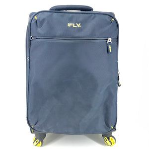 "iFLY Softside 23"" Spinner Expandable Luggage Suitcase - Blue-infinitote.com"