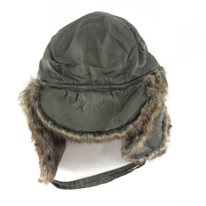 Ganka GKS II 74-PH-22 Nylon Hat Faux Fur Olive Green Sz XL-infinitote.com